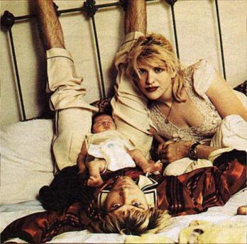 Výsledek obrázku pro cobain s rodinou